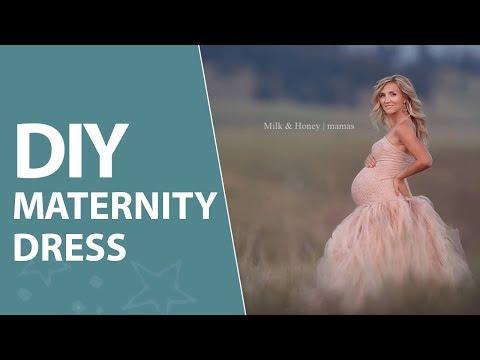 DIY Maternity Tulle Skirt + Lace Dress