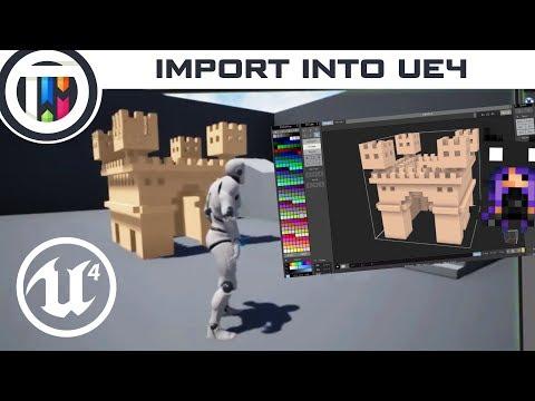 Unreal Engine 4 Tutorial - Importing MagicaVoxel into UE4