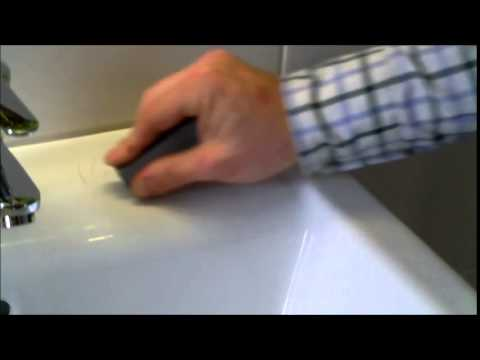 How to remove scratches from wash basins and toilets, china, pottery, porcelain