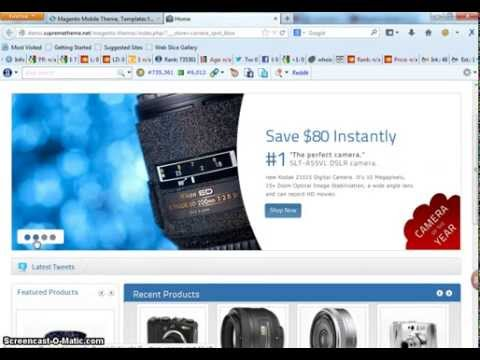Magento Electronic Theme For online Store