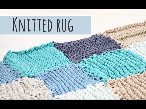 Knitted rug tutorial, make your own rug