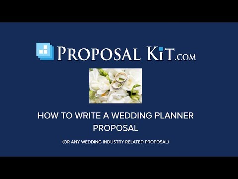 How to Write a Wedding Planner Business Proposal