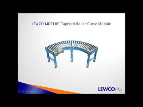 LEWCO Belt Driven Live Roller Conveyor 101