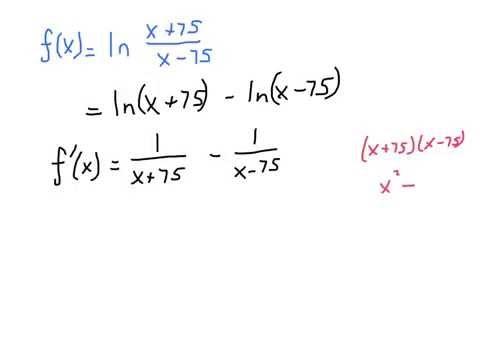 Derivative Involving ln(x-a)
