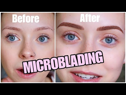 MICROBLADING MY EYEBROWS | Part 1