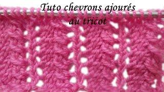 Tuto tricot apprendre a tricoter le point ajoure de meduse facile music jinni - Point tricot ajoure facile ...