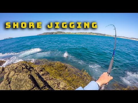 How to catch fish Shore Jigging - the rod, reel, lures and technique