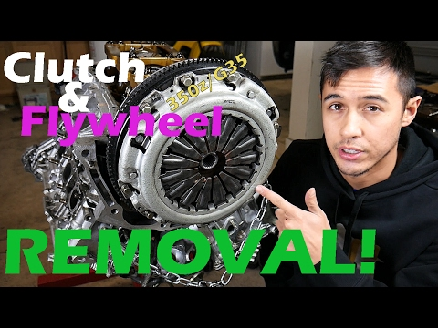 Clutch & Flywheel Removal for 350z/G35 (Day 2 Part 3)