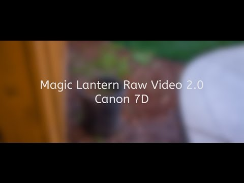 Magic Lantern Raw Video Test