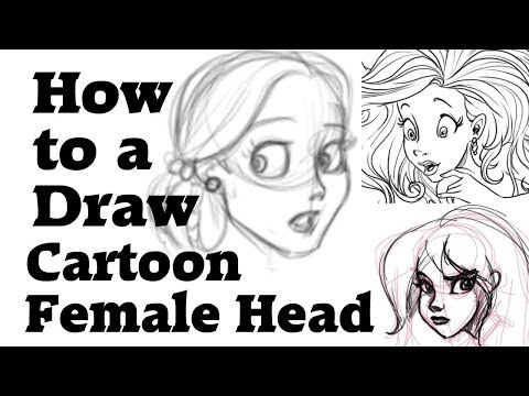 How to draw a cartoon female head