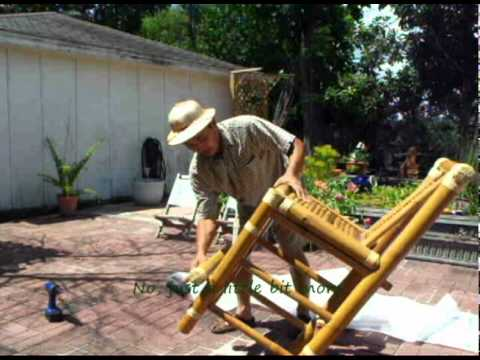 Exotic Ponds and Patios - Assembling a Bamboo Chair
