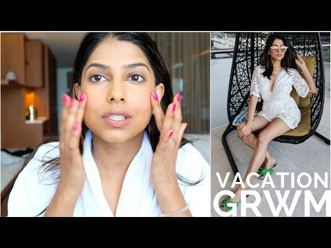 GRWM in my CABO, Mexico Hotel Room! Easy Vacation Makeup!