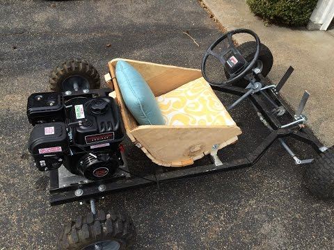 Homemade Go Kart Build and Test Drive