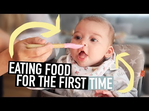 BABY TRIES FOOD FOR THE FIRST TIME
