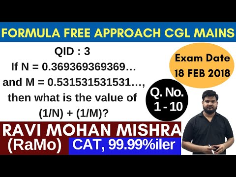 SSC CGL TIER-2 {2017} Mathematics Paper (18 Feb) Discussion Part-1 by RaMo  [99.99% Ier in CAT]