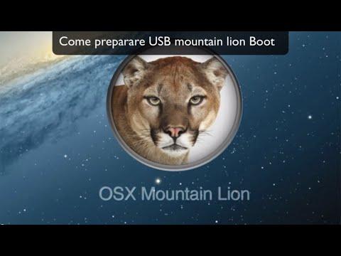Tutorial:Come installare Mountain Lion da PenDrive USB | Guida