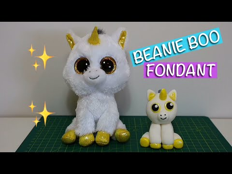 Easy Beanie Boo fondant tutorial.  How to make Beanie Boo with fondant for cake decoration.