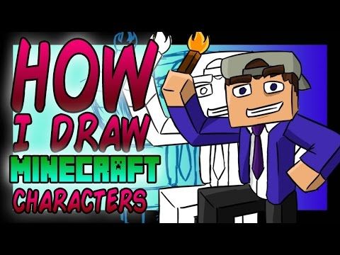 How I Draw Minecraft Characters! - (Photoshop CC)