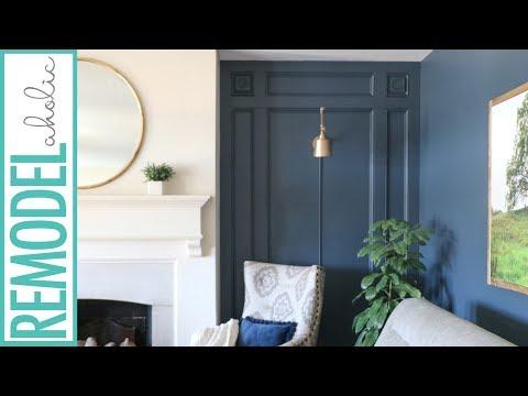 Elegant DIY Paneled Wall Treatment Tutorial