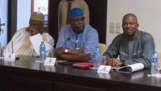 Vice President Prof. Osinbajo Speaks On Recession When Hosts House Committee Visit Him