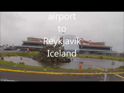 Keflavik airport to Reykjavik, Iceland