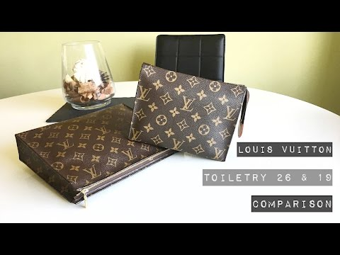 Louis Vuitton // Toiletry 26 and 19 Comparison