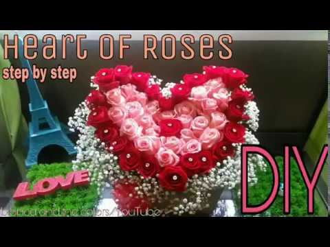 How to make a heart of roses/ flowers arrangement
