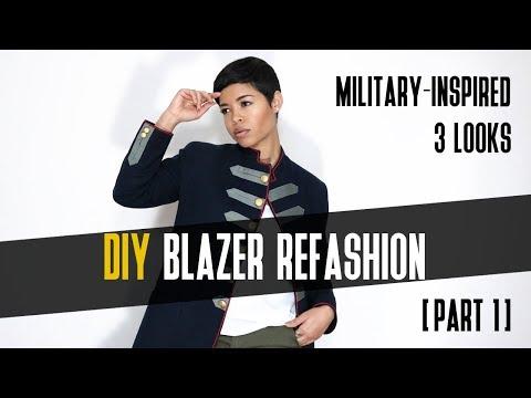DIY Blazer Refashion | Military Inspired  [Part 1]