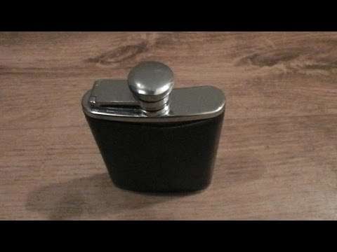 CLEANING AN OLD HIP FLASK WITH A MIRACLE CLOTH