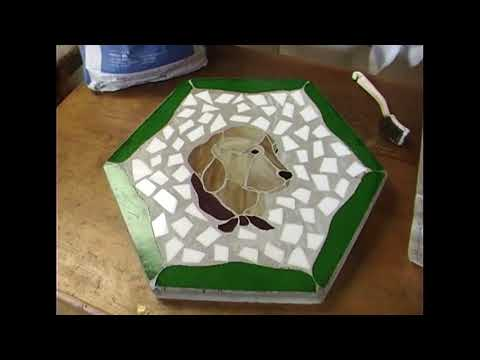 Judie Ohm -  How to Make a Stained Glass Stepping Stone
