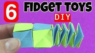 Download NEW! 6 EASY DIY FIDGET TOYS - DIY TOYS FOR KIDS TO MAKE USING HOUSEHOLD ITEMS- STRESS RELIEVERS-DIYS Video