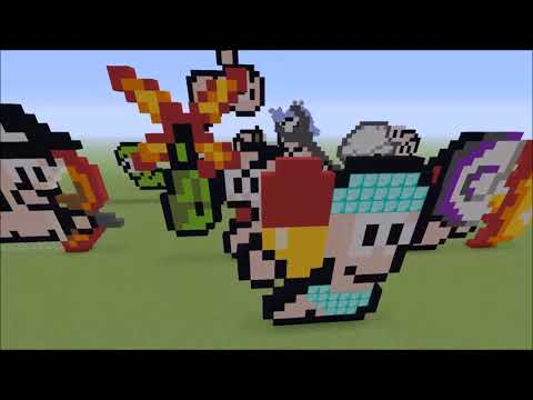 Minecraft Worms Pixel Art Collection Build Showcase Creative Mode