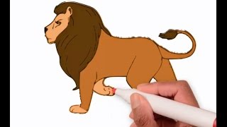 how to draw and colour lion 2016 | learn to draw lion