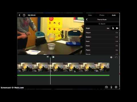 How to add/ delete sounds in iMovie app