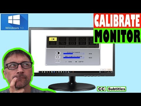 How to calibrate Monitor Windows 10
