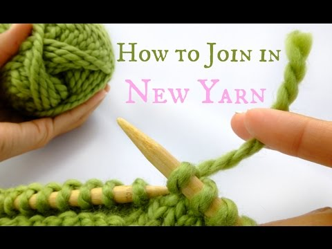 How to Join in new yarn - Easy Knitting tutorial!