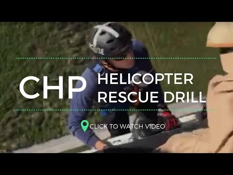 California Highway Patrol Helicopter Rescue Drill | CHP Helicopter