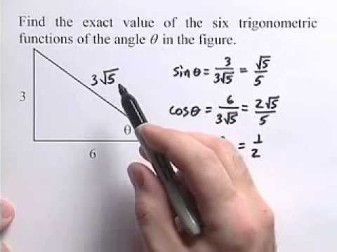 Algebra 2 How To Find The Exact Value Of Six Trigonometric Functions