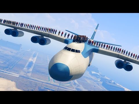 CAN 100+ PEOPLE STAND ON THE PLANE IN GTA 5?