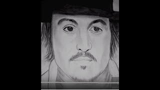 How to draw sketch johny depp easy to way timplapse