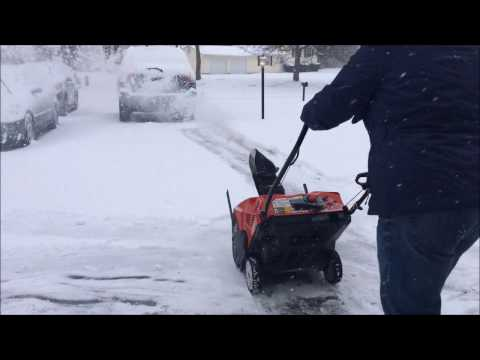 Troy-Bilt Squall 2100 208cc 21- Snow Blower in Action
