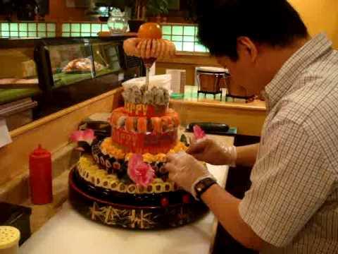 kyoto hernando sushi birthday cake