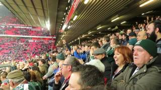 Liverpool - Plymouth Argyle , 8/1/2017 Anfield. Celebration at the end