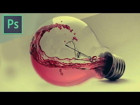 Photoshop CS6 Tutorial - Water Photo manipulation Bulb