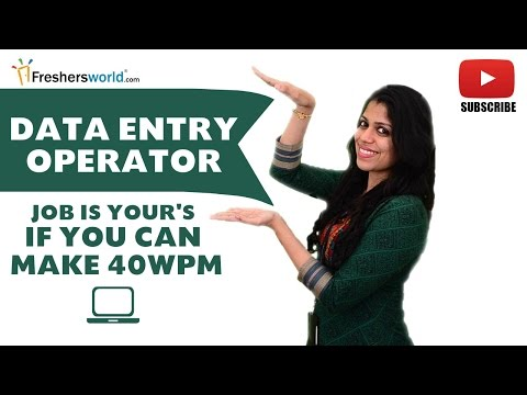 Job Roles For DATA ENTRY OPERATOR – Entry Level,DataBase,Arts,Science,WPM, Data Management