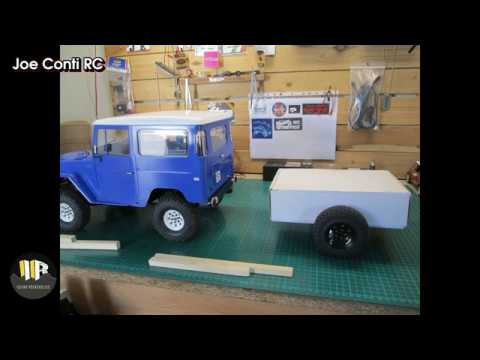 How I built my 1/10 scale scratch build wooden trailer