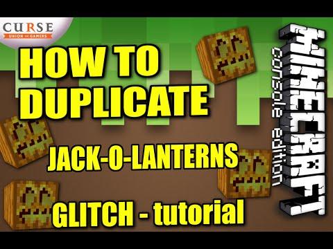 MINECRAFT - PS4 - JACK-O-LANTERN DUPLICATION GLITCH - HOW TO - TUTORIAL ( PS3 / XBOX /PC )