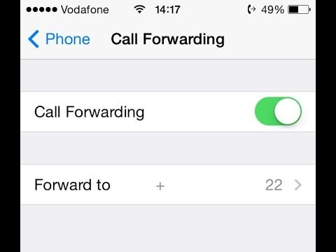 iPhone Call Forwarding Setup