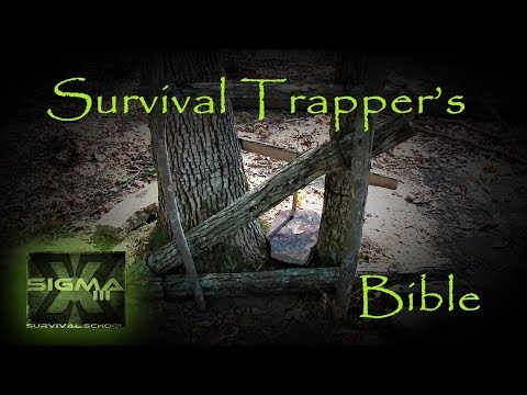 The Survival Trappers Bible Part 21 Large Scissor Deadfall Trap