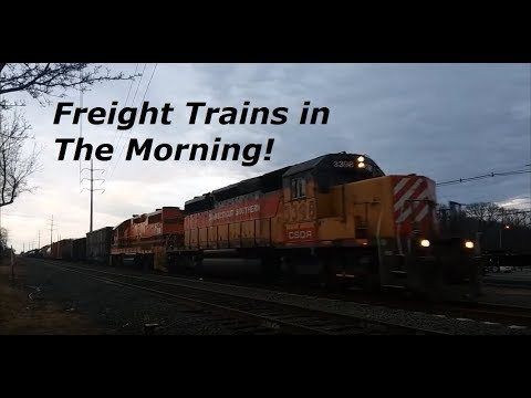5 Morning Trains In Wallingford, CT 2-12-18